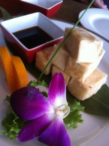 Agedashi Tofu at Rice on Randall Road in Algonquin