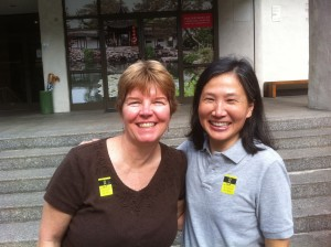 April M. Williams and Ji Sun Chang entering Honolulu Academy of Arts Masterpieces of Landscape Painting from the Forbidden City