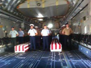 Soldiers Remains return to Hickam AFB Honolulu